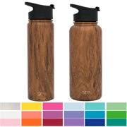 0d140ffcb4 Simple Modern 32oz Summit Water Bottle + Extra Lid - Vacuum Insulated  Thermos Stay Hot &