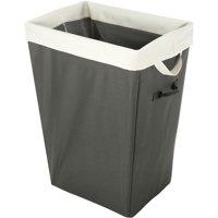 "Whitmor Easycare 13"" x 18:"" x 22"" Hamper & Laundry Bag-Greystone"