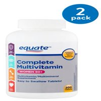 (2 Pack) Equate complete multivitamin women 50+ multivitamin/multimineral supplement, 200 ct