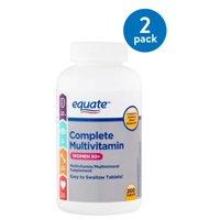 (2 Pack) Equate complete multivitamin women 50+ multivitamin/multimineral supplement, 200 ct