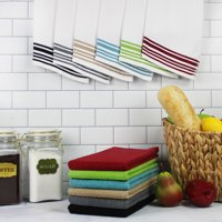 Mainstays 12 Pack Terry Kitchen Towel Set in Solid and Stripes