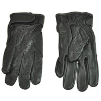 Men's Fulmer G41 Goatskin Motorcycle Riding Gloves Perforated Vented Black