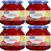 (4 Pack) Great Value Maraschino Cherries, 16 oz