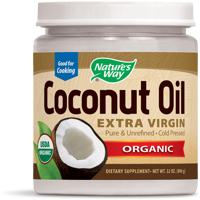 Natures Way Organic Extra Virgin Coconut Oil Cold-Pressed 32 Oz