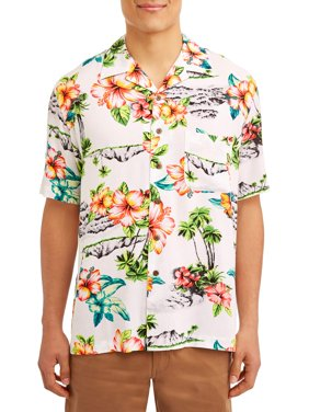 George Short Sleeve Rayon Woven Shirt Up to 5XL