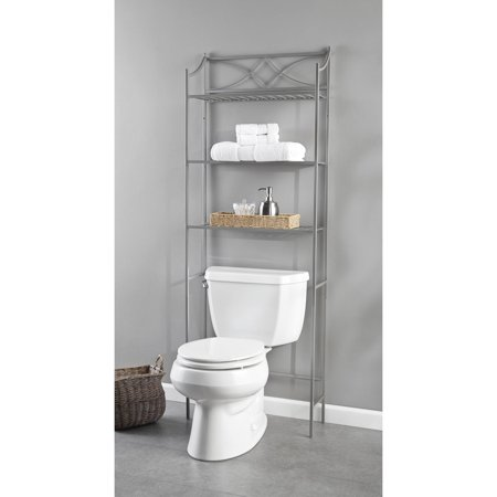 - Chapter Lexington Park Bathroom Over-the-Toilet Space Saver, Satin Nickel