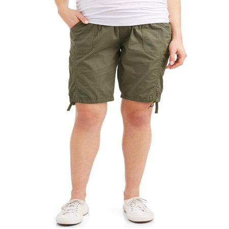 Maternity Underbelly Stretch Poplin Bermuda Shorts - Available in Plus Sizes