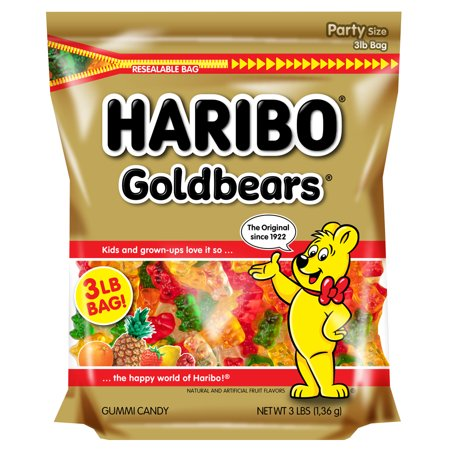 Haribo Gold-Bears Original Gummi Candies, 3 Lb.](Haribo Gummi Bears)