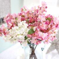 Girl12Queen 1 Bouquet Wedding Cafe Shop Bridal Fake Artificial Cherry Blossom Flower Decor