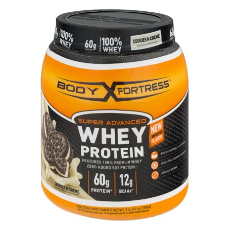 Body Fortress Super Advanced Whey Protein Powder, Cookies N' Creme, 60g Protein, 2 - Complete Whey Banana Creme