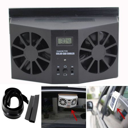 Solar Powered Car Window Air Vent Ventilator Mini Air Conditioner Cool Fan (Best Pureav Power Conditioners)