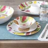 Mainstays 12-Piece Melamine Dinnerware Set