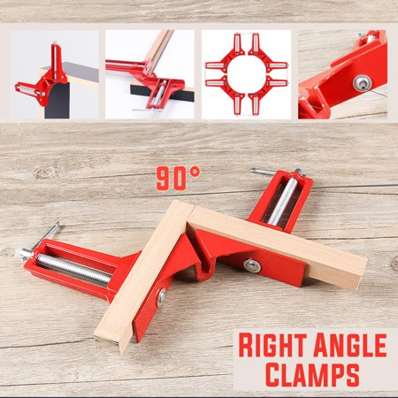 3 inch/75mm 90 Degrees Right Angle Corner Clamp Aluminum Alloy, Miter Picture Photo Frame Corner Clamp Holder, Glass Holder, DIY Woodworking Hand Tool for Wood Metal Fish Tank (Digital Miter Angle)