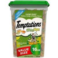 TEMPTATIONS MixUps Treats for Cats CATNIP FEVER Flavor, 16 oz. Tub