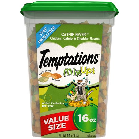Catnip Single (TEMPTATIONS MixUps Treats for Cats CATNIP FEVER Flavor, 16 oz.)