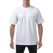 61376c3f Pro Club Men's Heavyweight Cotton Short Sleeve Crew Neck T-Shirt, Small,  Snow