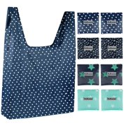 ab28616db91 Reusable Grocery Bags, Washable Shopping Bags, Large Foldable Grocery Tote  Bags with Pocket,