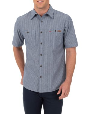 Men's Short Sleeve Button-Down Work Inspired Shirt