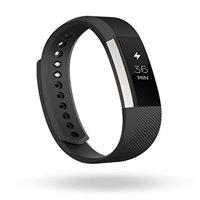 Refurbished Fitbit FB406BKS Alta Fitness Tracker, Silver/Black, Small