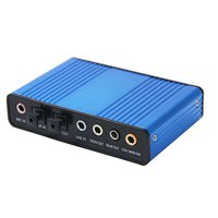 HDE USB 2.0 External Sound Card 6 Channel 5.1 Surround Sound Optical Audio Output Adapter for PC and Mac