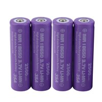 4pcs x High Drain INR 18650 35A 3.7V Recharg eable Battery 2500mAh New