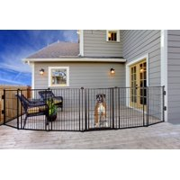 Carlson 144-Inch Super Wide Heavy Duty Gate and Pet Pen, Includes Walk Through Door and Mounting Hardware