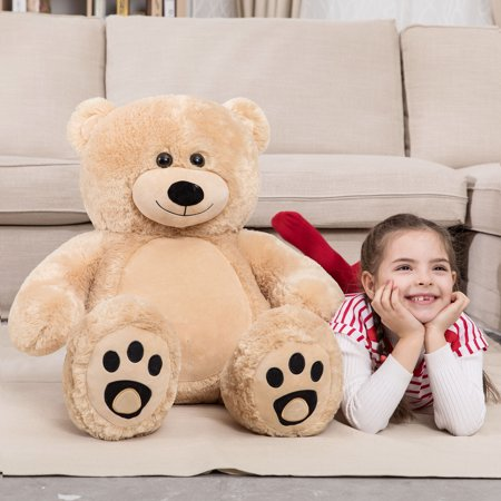WOWMAX 3 Foot Giant Teddy Bear Daney Cuddly Stuffed Plush Animals Teddy Bear Toy Doll for Birthday Christmas Brown 36 Inches](7 Ft Teddy Bear)
