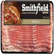 Smithfield Naturally Hickory Smoked Thick Cut Bacon, Ready to Cook, 16 ounce package