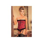 d2aca2bc840 Red Stunning Floral Tapestry Strapless Corset   Thong 9001 Shirley Red