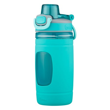 bubba Kids Water Bottle with Silicone Sleeve | Flo BPA-Free Water Bottle with Wide Mouth, 16 oz, Aqua (Wide Mouth Bottle Cap)