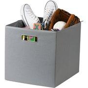 """Better Homes and Gardens Fabric Cube Storage Bin (12.75"""" x 12.75""""), Single Unit, Multiple Colors"""