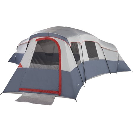 - Ozark Trail 20-Person 4-Room Cabin Tent with 4 Separate Entrances