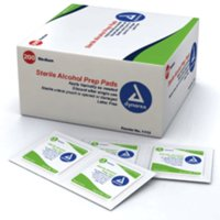 Dynarex Alcohol Prep Pads (Swabs) Sterile, Medium 200 ea