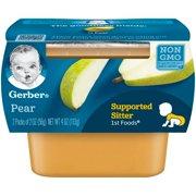Gerber 1st Foods Pear Baby Food, 2-2 oz. Tubs