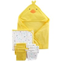 Hooded Towels & Washcloths, 10pc Set (Baby Boys or Baby Girls Unisex)