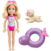 Barbie Dolphin Magic Chelsea Doll with Puppy Squirt Toy