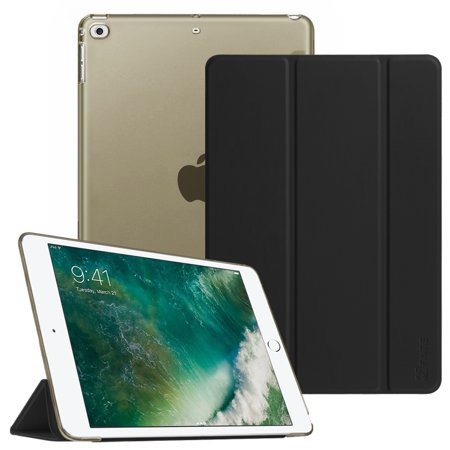 Fintie iPad 9.7 Inch 2018 2017 Case for iPad Air/ Air 2, 6/5th Gen - Translucent Frosted SlimShell Cover, Black ()