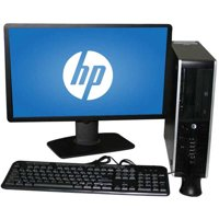 "Refurbished HP 8000 SFF Desktop PC with Intel Core 2 Duo E8400 Processor, 8GB Memory, 22"" LCD Monitor, 1TB Hard Drive and Windows 10 Home"