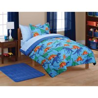Mainstays Kids Dinosaur Coordinated Bed in a Bag, 1 Each