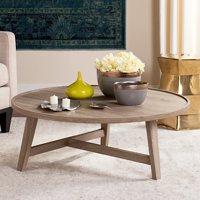 "Safavieh Malone 35"" Round Retro Mid Century Coffee Table, Multiple Colors"