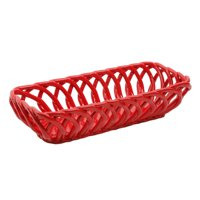 The Pioneer Woman Timeless Beauty 13.7-Inch Red Bread Basket