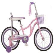 Schwinn Bloom kids bike, 16-inch wheel, training wheels, girls, pink