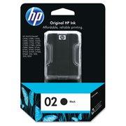 HP 02, (C8721WN) Black Original Ink Cartridge