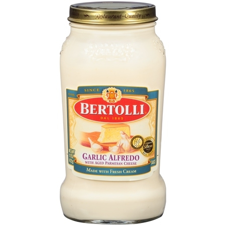 Roasted Parmesan ((2 pack) Bertolli Garlic Alfredo with Aged Parmesan Cheese Pasta Sauce 15 oz.)