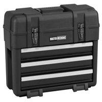 Waterloo Industries MM23BK Plastic Tool Box / Chest, 3-Drawers, Portable