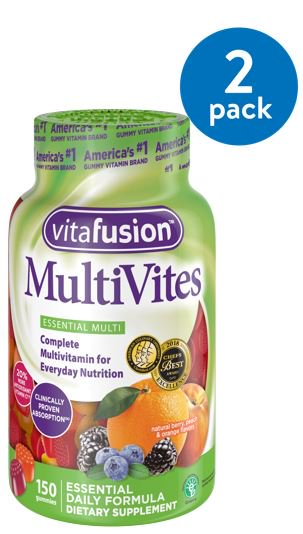 (2 Pack) Vitafusion MultiVites Gummy Vitamins,