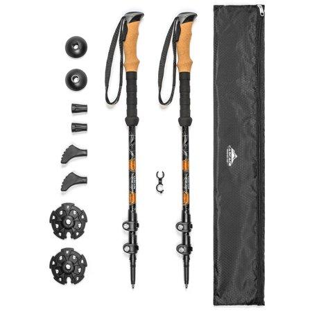 - Cascade Mountain Tech Quick Lock Aluminum Trekking Poles with Cork Grip