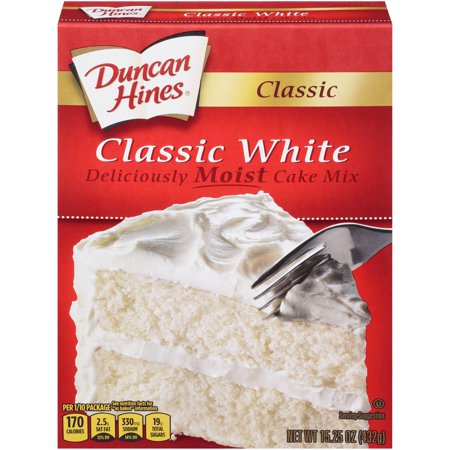 (2 pack) Duncan Hines Classic White Cake Mix, 15.25 oz Box