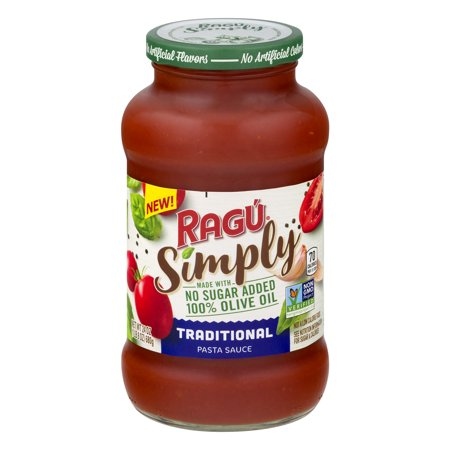 (3 pack) Ragu Simply Traditional Pasta Sauce, 24 oz