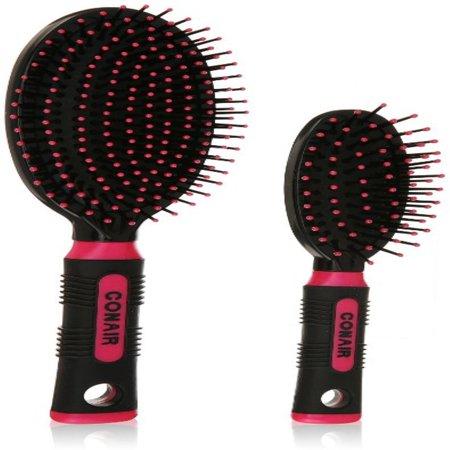 Conair Brush Detangle and Style Hair Brush Set, 1 ea (Pack of 4)